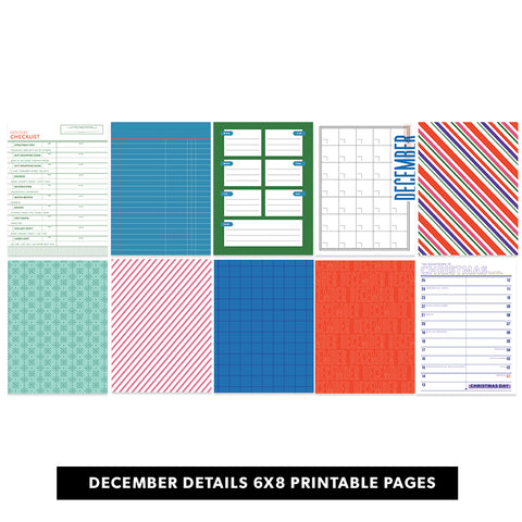 Holiday: December Details 6x8 Printable Pages