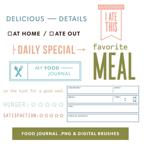 Food Journal Digital Files