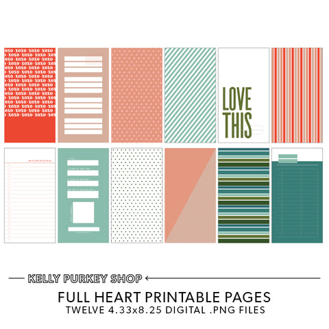 Full Heart Printable Pages