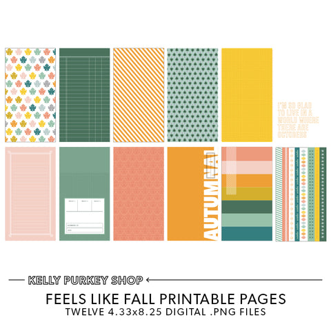 Feels Like Fall Printable Pages