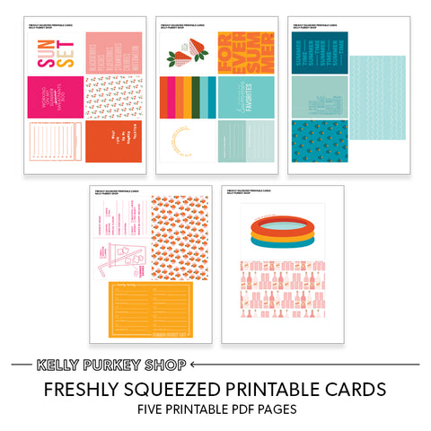 Freshly Squeezed Printable Cards (.pdf pages)