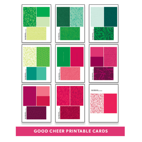 Holiday: Good Cheer Printable Cards