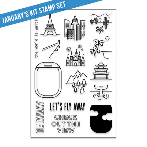 February Kit Stamp: Getaway