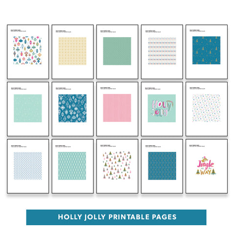 Holiday: Holly Jolly Printable Pages