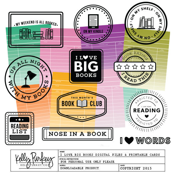 I Love Big Books Mini Kit: Digital Files & Printable PDF