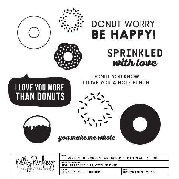 I Love You More than Donuts Digital Files