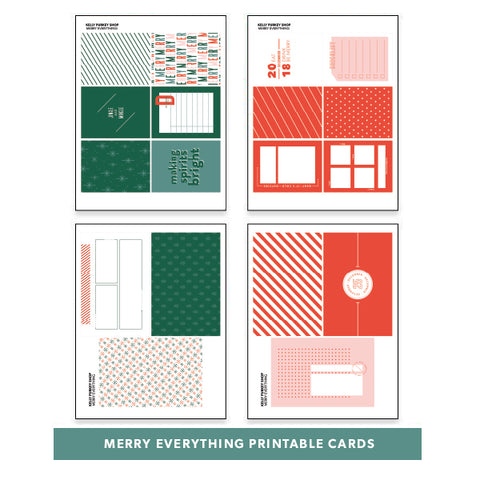 Holiday: Merry Everything Printable Cards