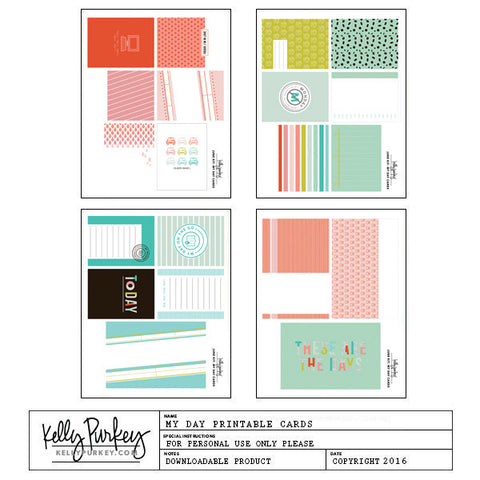 My Day Printable Cards