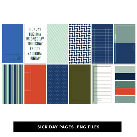 Sick Day Printable Pages