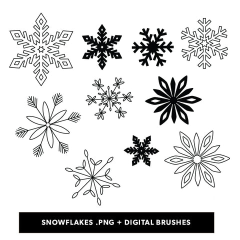 Snowflakes Digital Files