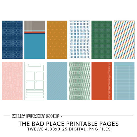 The Bad Place Printable Pages