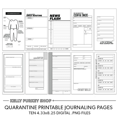 Quarantine Traveler's Notebook printable pages