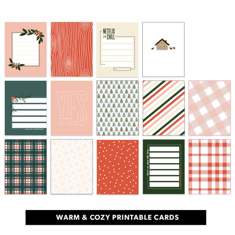 Warm & Cozy Printable Cards