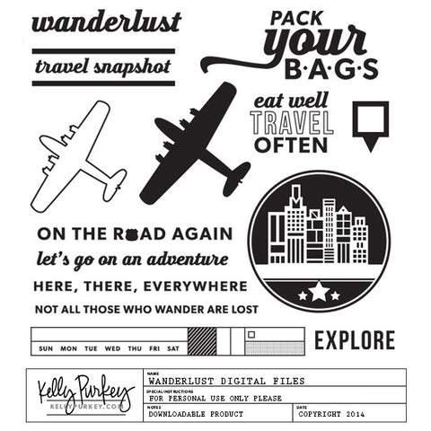 Wanderlust Digital Files