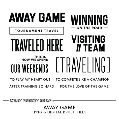Away Game Digital Files