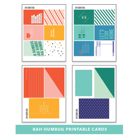 Holiday: Bah Humbug Printable Cards