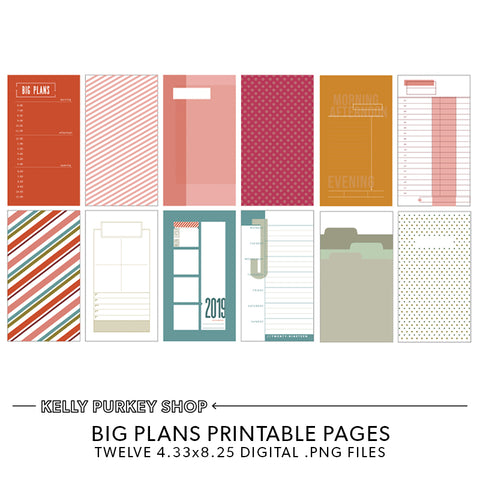 Big Plans Printable Pages