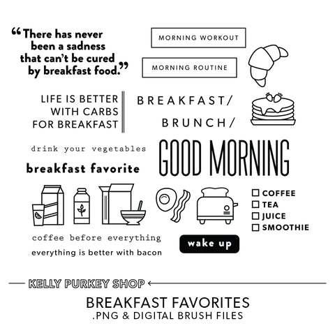 Breakfast Favorites Digital Files