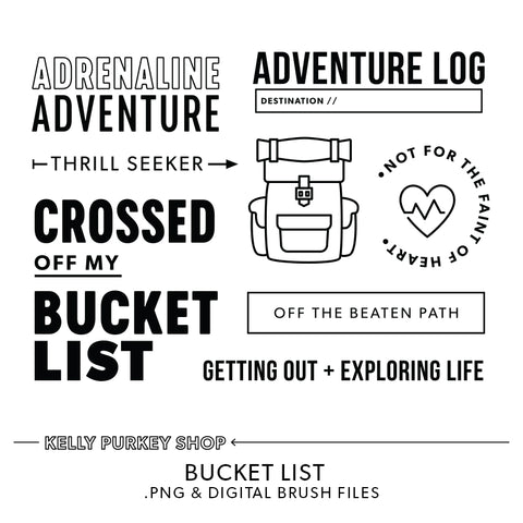 Bucket List Digital Files