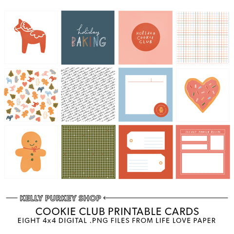 Cookie Club Printable Cards