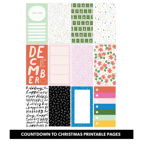 Holiday: Countdown to Christmas Printable Pages