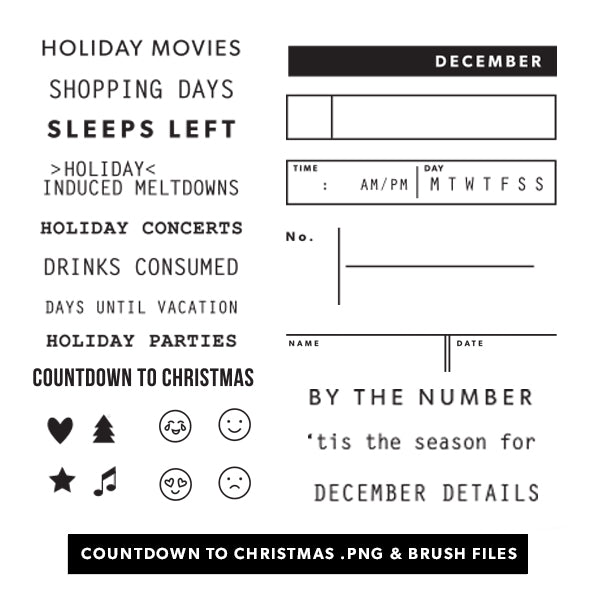 Holiday: Countdown to Christmas Digital Files