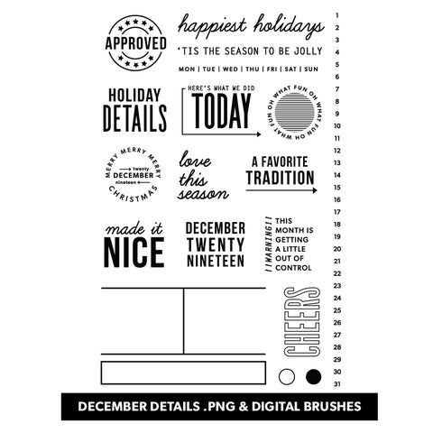 December Details Digital Files