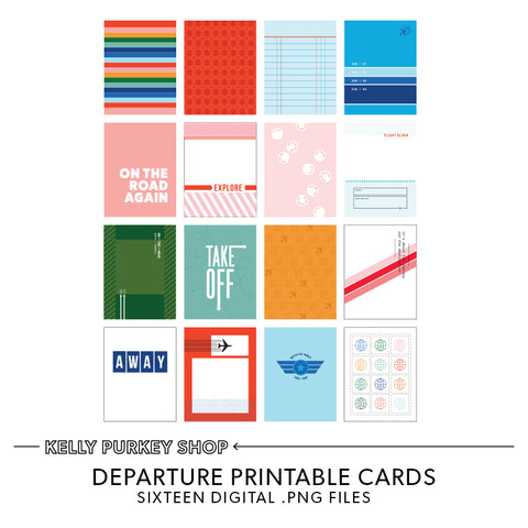 Departure Printable Cards