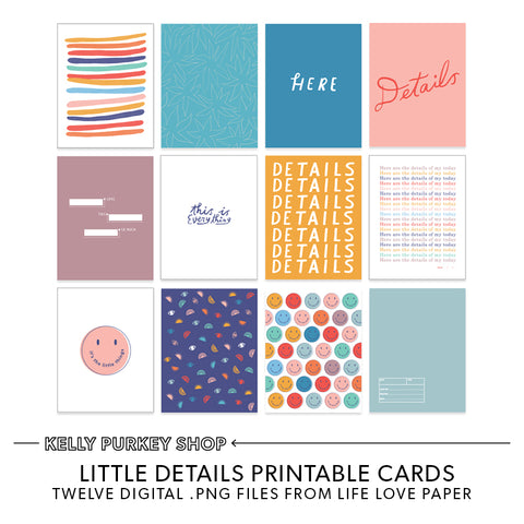 Little Details Printable Cards
