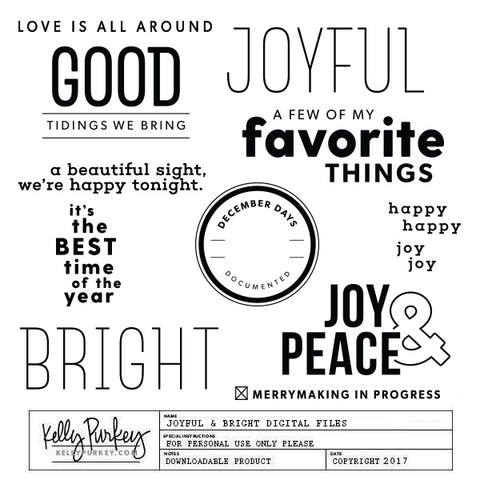 Joyful & Bright Digital Files
