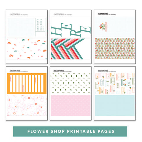 Flower Shop Printable Pages