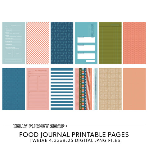 Food Journal Printable Pages