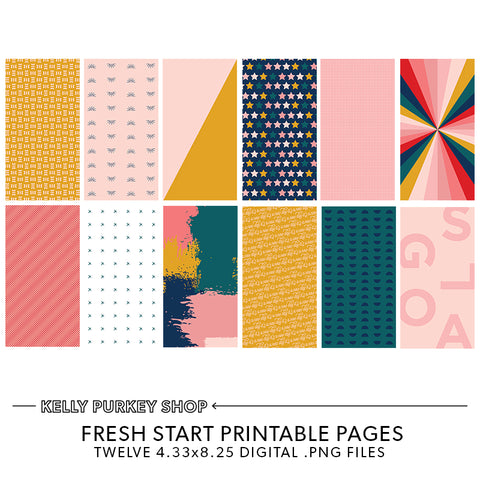 Fresh Start Printable Pages