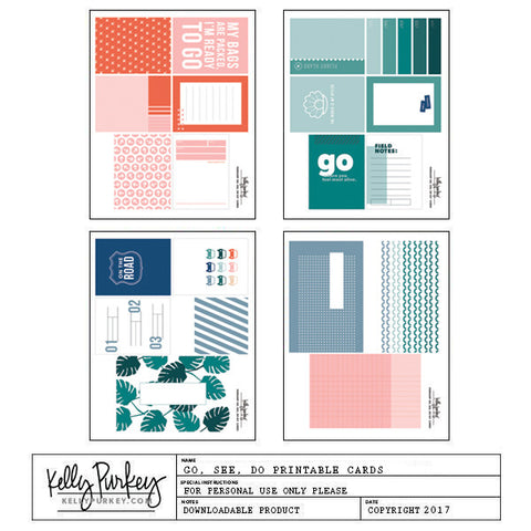 Go, See, Do Printable Cards
