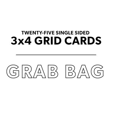 3x4 Grid Card Grab Bag