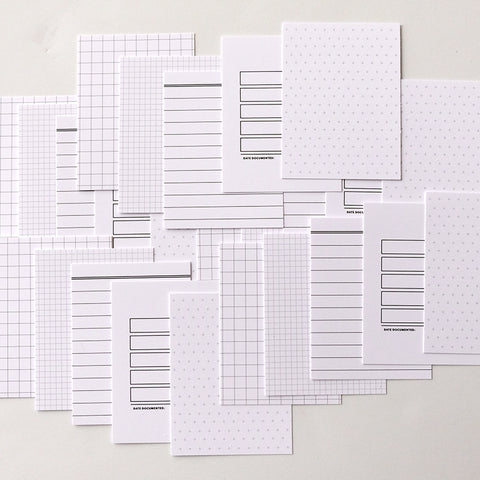 Be Basic: White Grid Card Pack