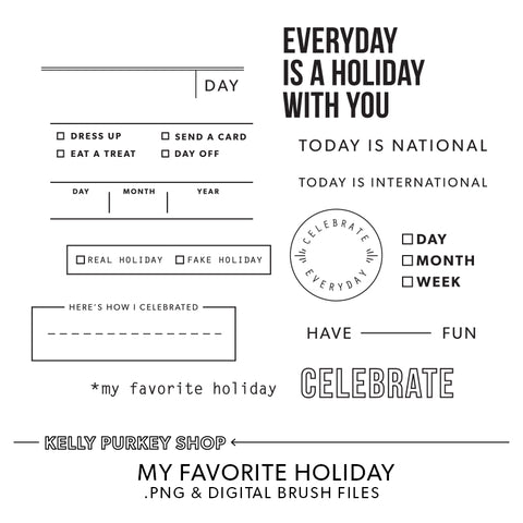 My Favorite Holiday Digital Files