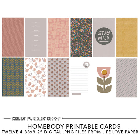 Homebody Printable Pages