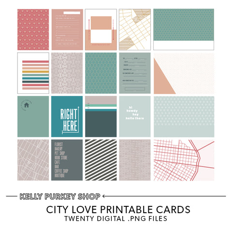 Hometown Love Printable Cards
