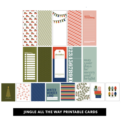 Jingle All the Way Printable Cards