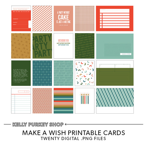 Birthday Wishes Printable Cards