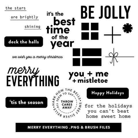 Holiday: Merry Everything Digital Files