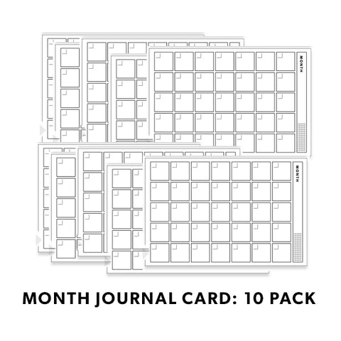 BW Journal Cards: Month 10 Pack