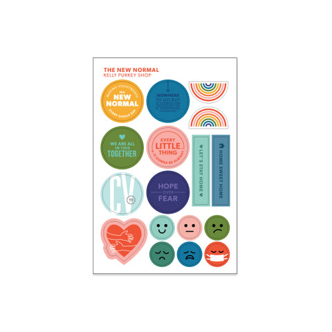 PREORDER FOR RESTOCK: The New Normal sticker sheet (ships by June 19th)
