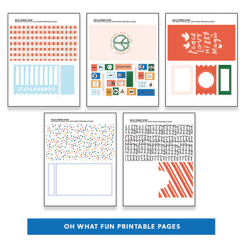 Holiday: Oh What Fun Printable Pages