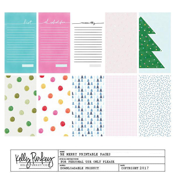 Be Merry Printable Pages