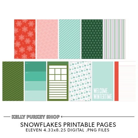 Snowflakes Printable Pages