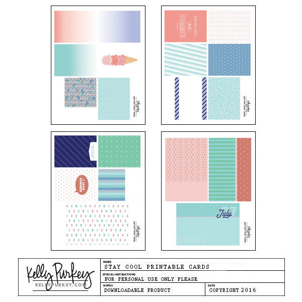 graphic regarding Have a Cool Summer Printable identify Remain Great Printable Playing cards - Kelly Purkey Retailer