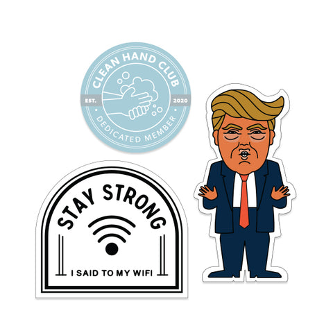 PREORDER FOR RESTOCK: Stay Strong sticker pack (ships by June 19th)