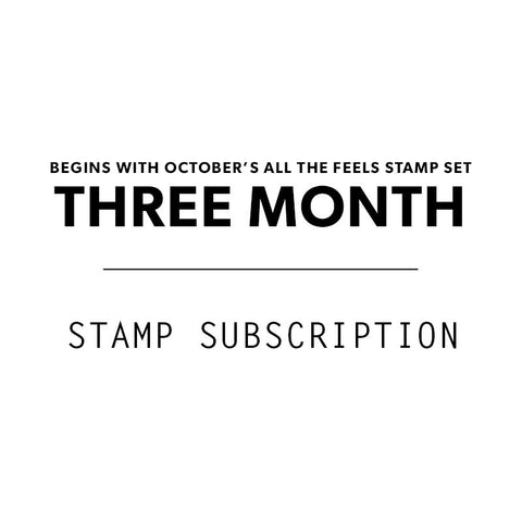 3 Mo. Stamp Subscription